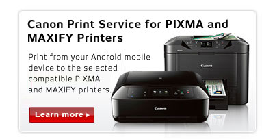 Canon Print Service for PIXMA and MAXIFY