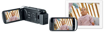 Record to Camcorder, Mobile Device or Tablet