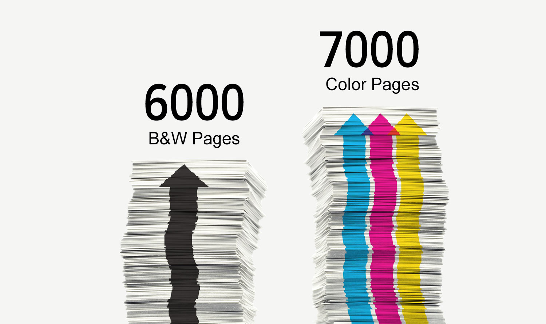 be1f2427 Maximice la productividad e imprima hasta 6.000 páginas en negro y 7.000 en  color con nuestras nuevas botellas de tinta; 135 ml en Negro y 70 ml en  Color.